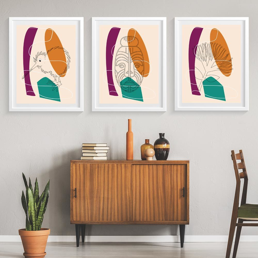 Retro Kiwiana Art Prints - Skewi Series