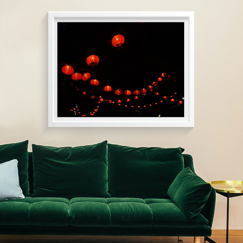 Photo Art Print -  Chinese Lanterns in Albert Park